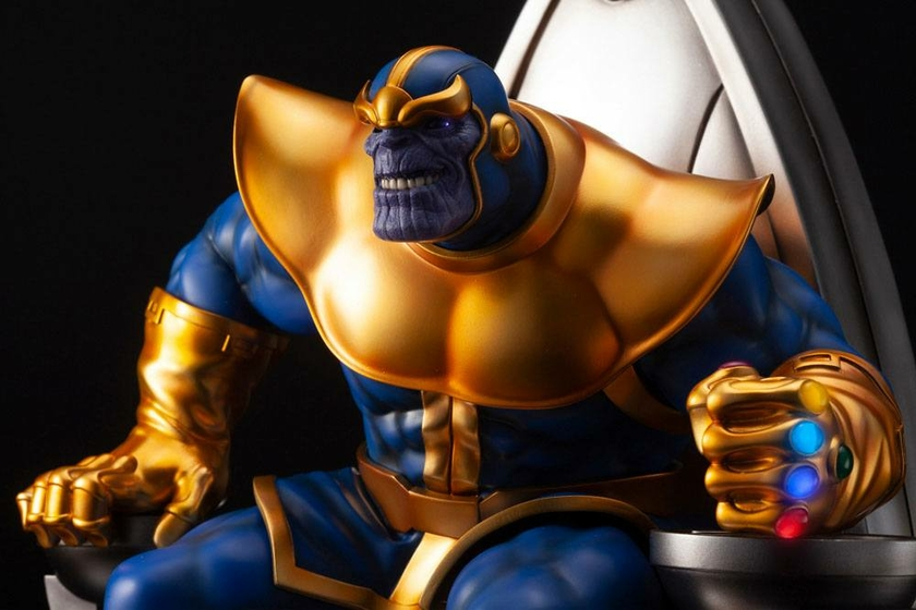 Statuette Marvel Fine Art Thanos on Space Throne 45cm 1001 Figurines (12)