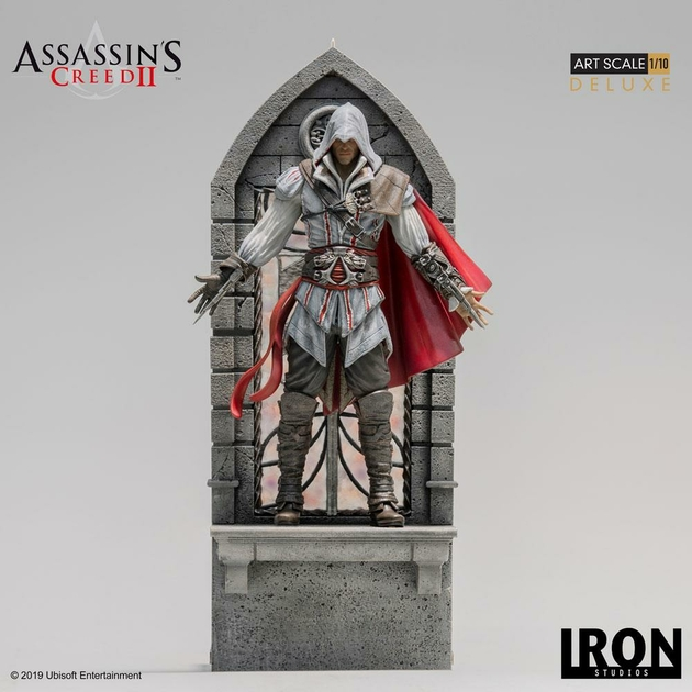Statuette Assassin's Creed II Art Scale Ezio Auditore Deluxe 31cm 1001 figurines (1)
