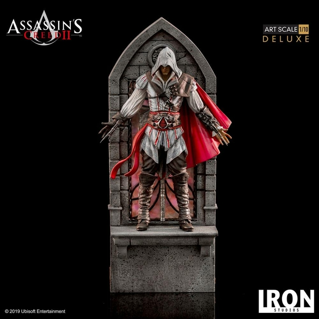 Statuette Assassins Creed II Art Scale Ezio Auditore Deluxe 31cm 1001 figurines (11)