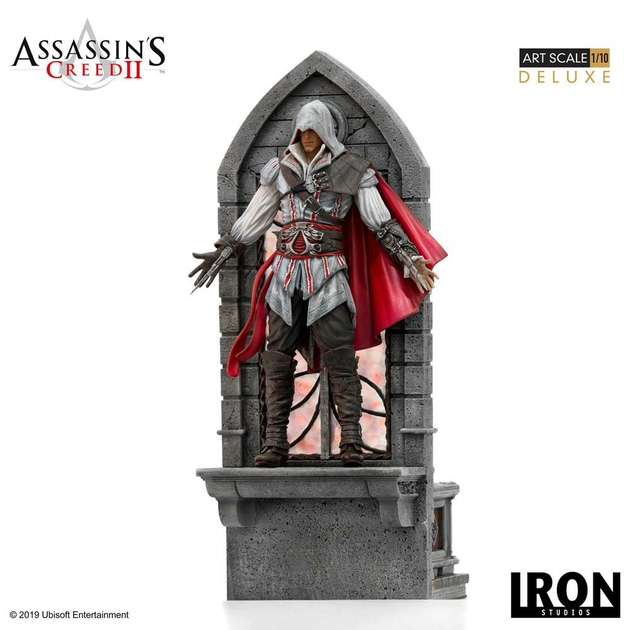 Statuette Assassins Creed II Art Scale Ezio Auditore Deluxe 31cm 1001 figurines (12)