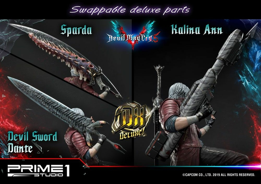 Statue Devil May Cry 5 Dante Deluxe Ver. 74cm 1001 Figurines (14)