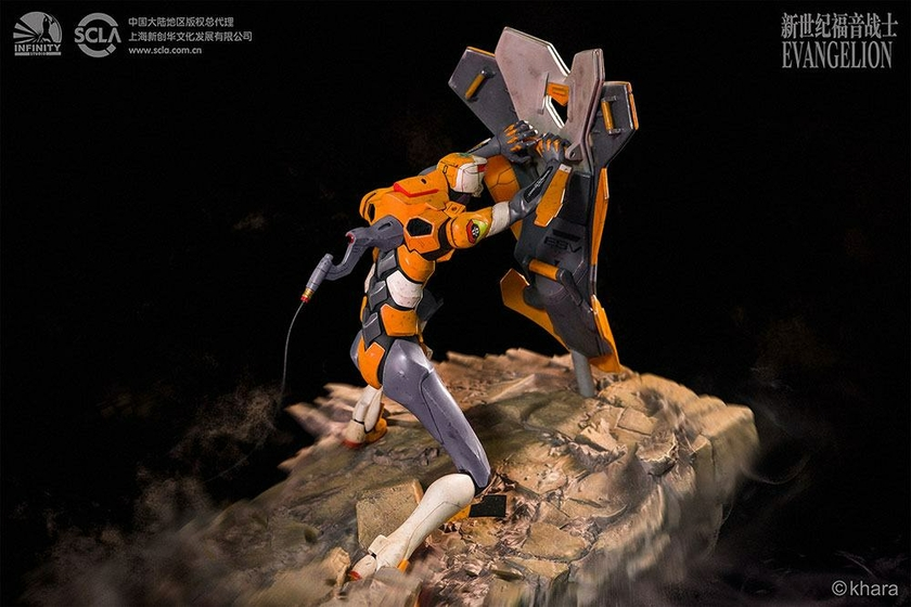 Statue Neon Genesis Evangelion EVA Unit-00 Prototype Operation Yashima 38cm 1001 Figurines (4)