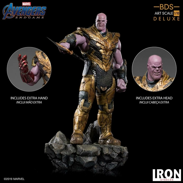 Statuette Avengers Endgame BDS Art Scale Thanos Black Order Deluxe 29cm 1001 Figurines (2)
