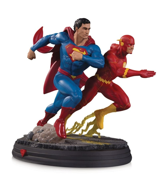 Statuette DC Gallery Superman vs The Flash Racing 2nd Edition 26cm 1001 figurines