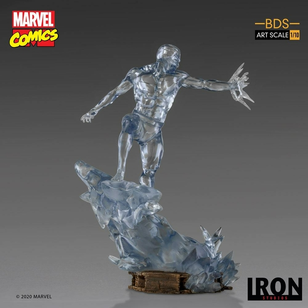 Statuette Marvel Comics BDS Art Scale Iceman 23cm 1001 Figurines (3)
