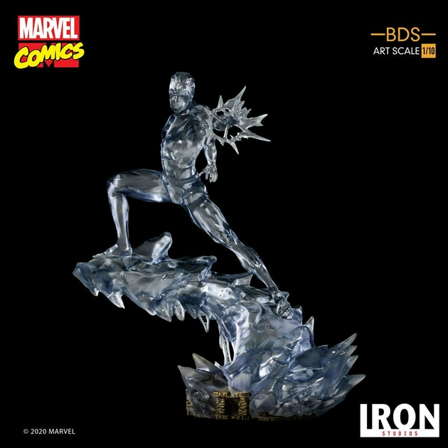 Statuette Marvel Comics BDS Art Scale Iceman 23cm 1001 Figurines (12)
