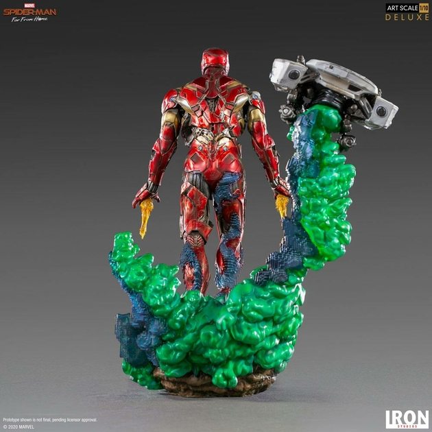 Statuette Spider-Man Far From Home BDS Art Scale Deluxe Iron Man Illusion 21cm 1001 Figurines (3)
