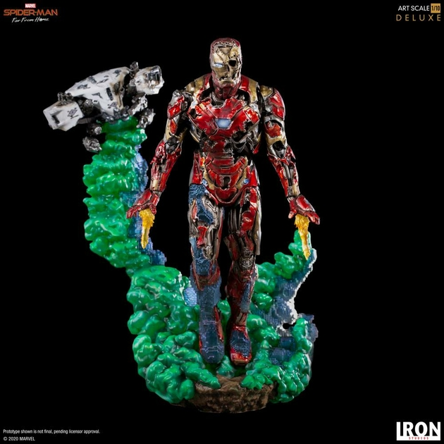 Statuette Spider-Man Far From Home BDS Art Scale Deluxe Iron Man Illusion 21cm 1001 Figurines (6)