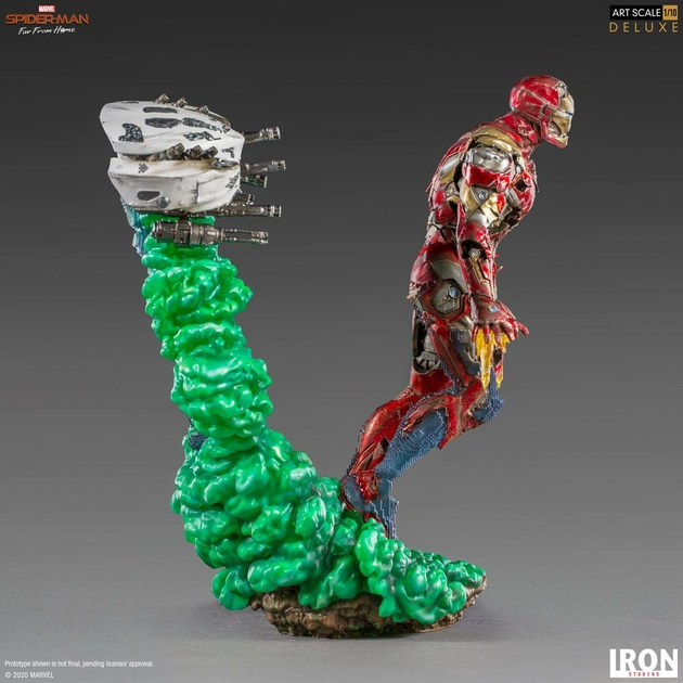 Statuette Spider-Man Far From Home BDS Art Scale Deluxe Iron Man Illusion 21cm 1001 Figurines (5)