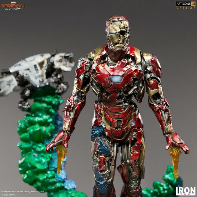 Statuette Spider-Man Far From Home BDS Art Scale Deluxe Iron Man Illusion 21cm 1001 Figurines (7)