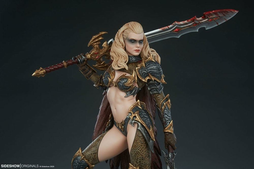 Statuette Sideshow Originals Dragon Slayer Warrior Forged in Flame 47cm 1001 Figurines (13)