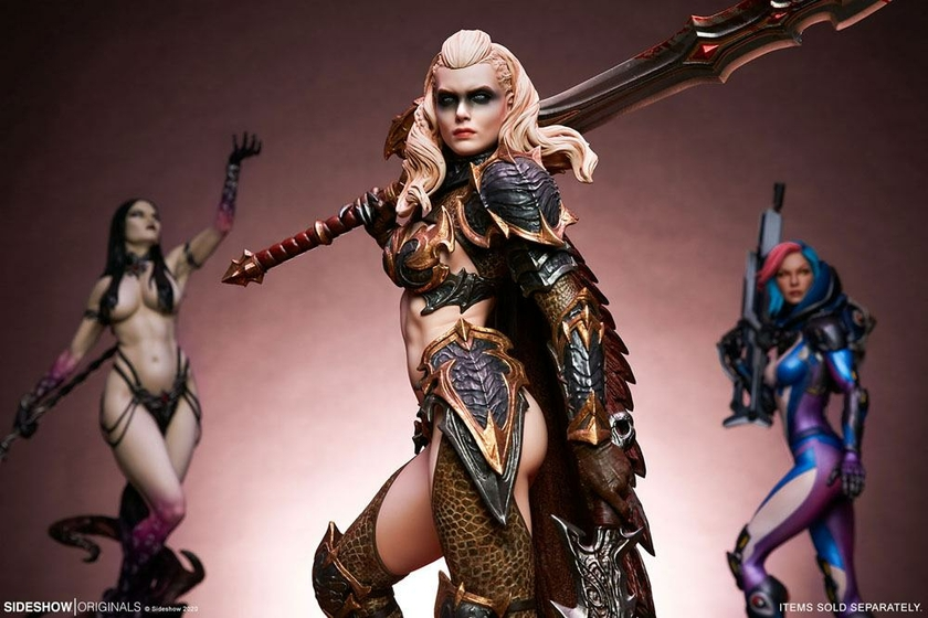 Statuette Sideshow Originals Dragon Slayer Warrior Forged in Flame 47cm 1001 Figurines (25)