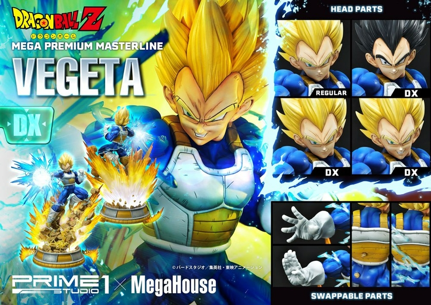 Statuette Dragon Ball Z Super Saiyan Vegeta Deluxe Version 64cm 1001 Figurines (19)