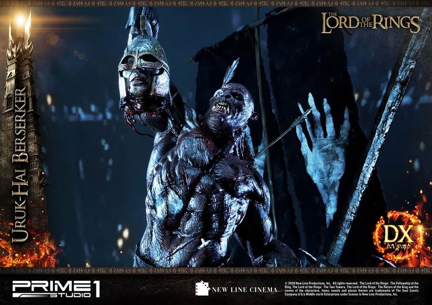Statue Le Seigneur des Anneaux Uruk-Hai Berserker Deluxe Version 93cm 1001 Figurines (16)