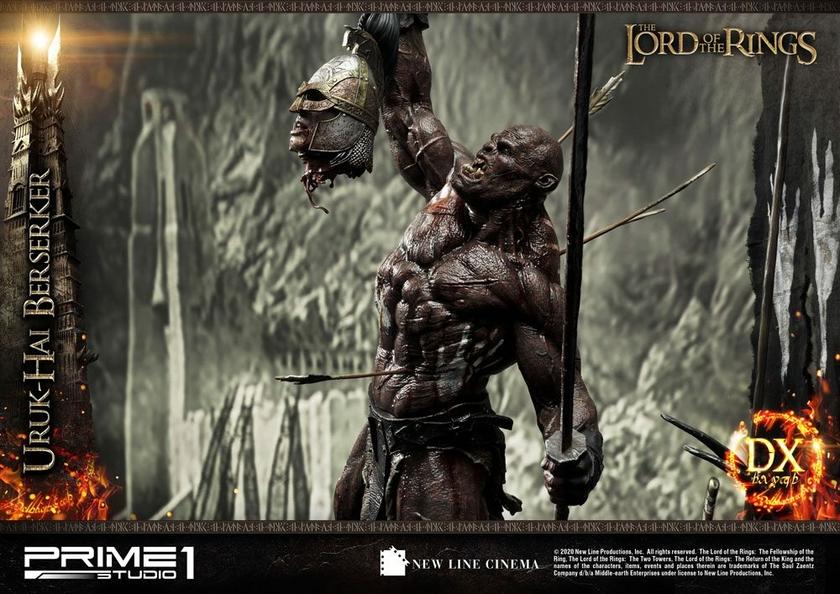 Statue Le Seigneur des Anneaux Uruk-Hai Berserker Deluxe Version 93cm 1001 Figurines (17)