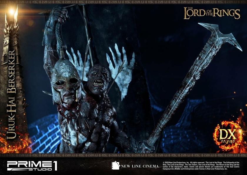 Statue Le Seigneur des Anneaux Uruk-Hai Berserker Deluxe Version 93cm 1001 Figurines (18)
