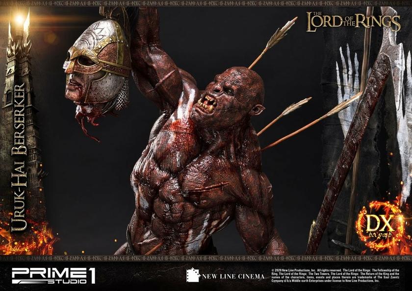 Statue Le Seigneur des Anneaux Uruk-Hai Berserker Deluxe Version 93cm 1001 Figurines (20)