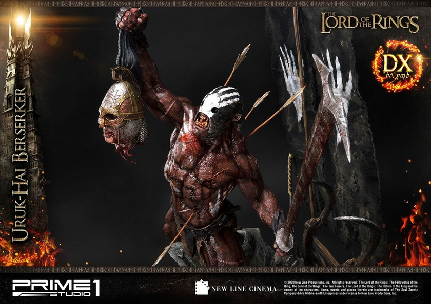 Statue Le Seigneur des Anneaux Uruk-Hai Berserker Deluxe Version 93cm 1001 Figurines (21)