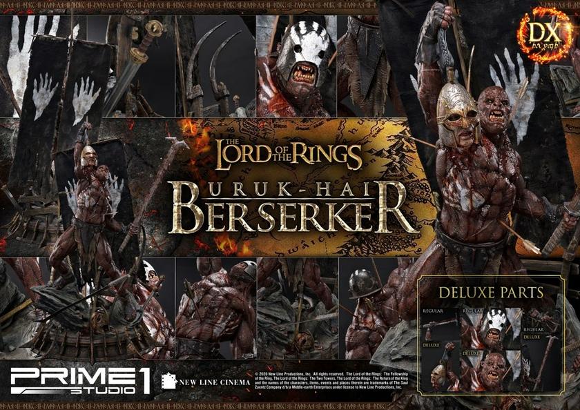 Statue Le Seigneur des Anneaux Uruk-Hai Berserker Deluxe Version 93cm 1001 Figurines (23)
