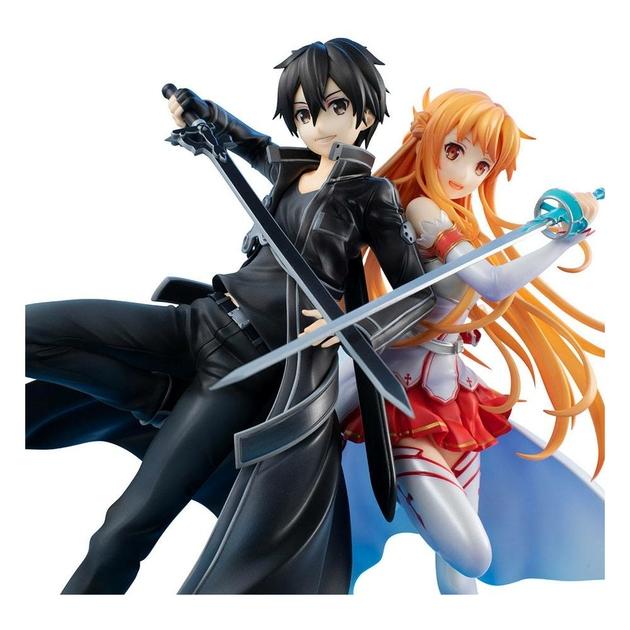Statuette Sword Art Online Lucrea Kirito & Asuna 10th Anniversary 22cm 1001 fIGURINES (2)