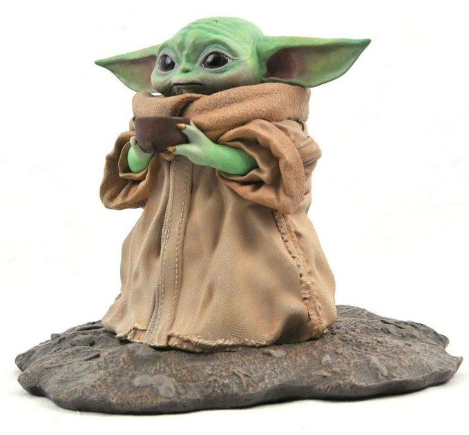 Statuette Star Wars The Mandalorian Premier Collection The Child Soup 17cm 1001 Figurines (3)