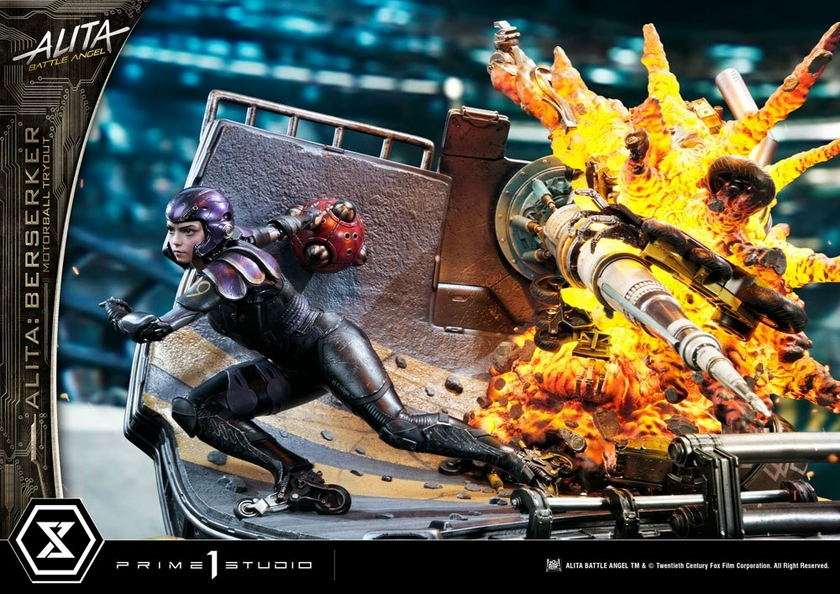 Statuette Alita Battle Angel Alita Berserker Motorball Tryout Bonus Version 64cm 1001 Figurines (3)