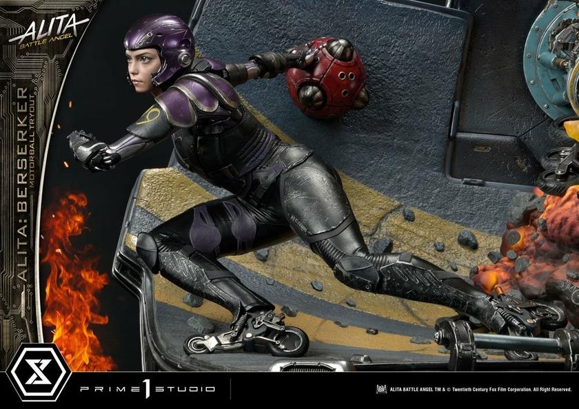 Statuette Alita Battle Angel Alita Berserker Motorball Tryout Bonus Version 64cm 1001 Figurines (18)