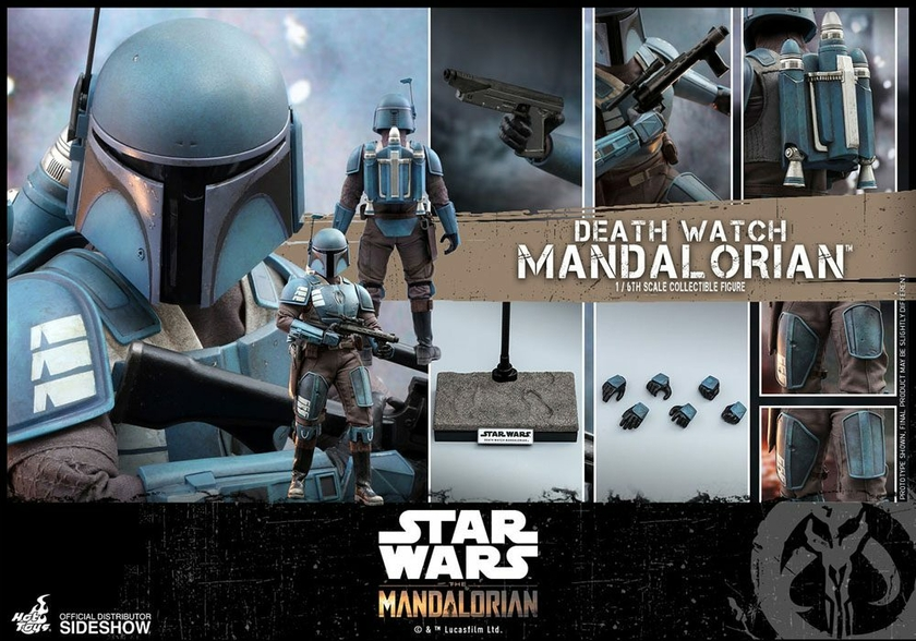 Figurine Star Wars The Mandalorian Death Watch Mandalorian 30cm 1001 Figurines (14)