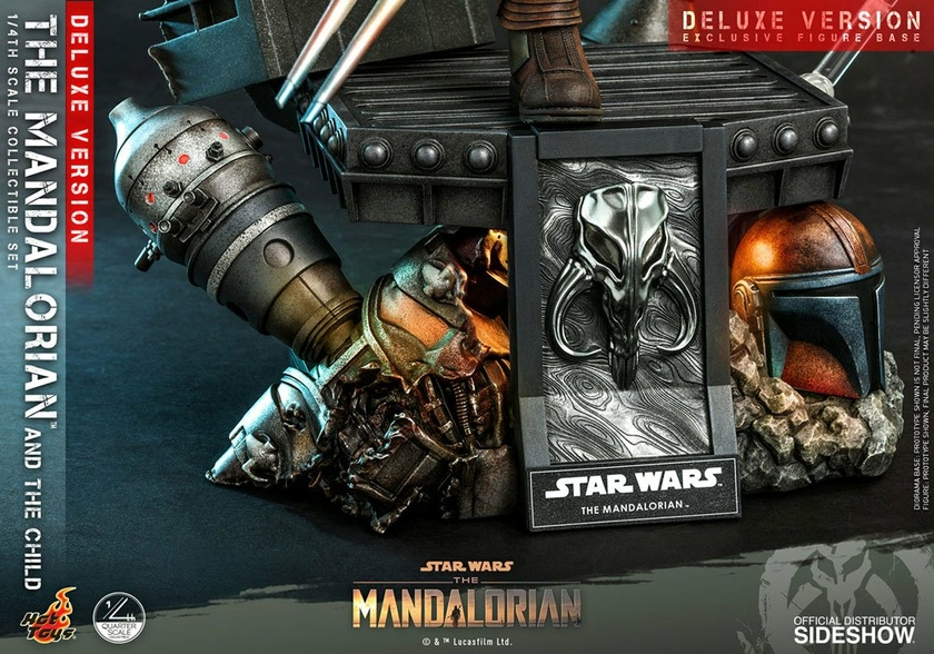 Pack Figurines Star Wars The Mandalorian The Mandalorian & The Child Deluxe 46cm 1001 Figurines (15)