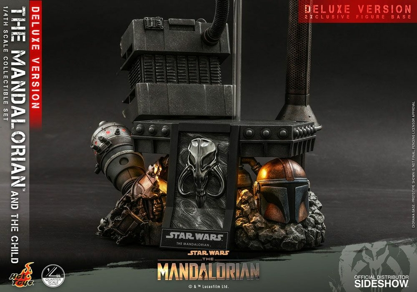 Pack Figurines Star Wars The Mandalorian The Mandalorian & The Child Deluxe 46cm 1001 Figurines (20)