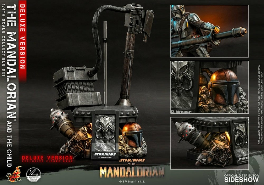 Pack Figurines Star Wars The Mandalorian The Mandalorian & The Child Deluxe 46cm 1001 Figurines (21)