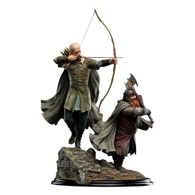 Statuette Le Seigneur des Anneaux Legolas and Gimli at Amon Hen 46cm 1001 Figurines (1)