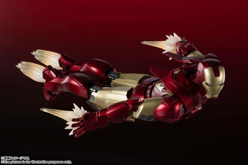 Figurine Avengers S.H. Figuarts Iron Man Mark 6 Battle of New York Edition 15cm 1001 Figurines (3)