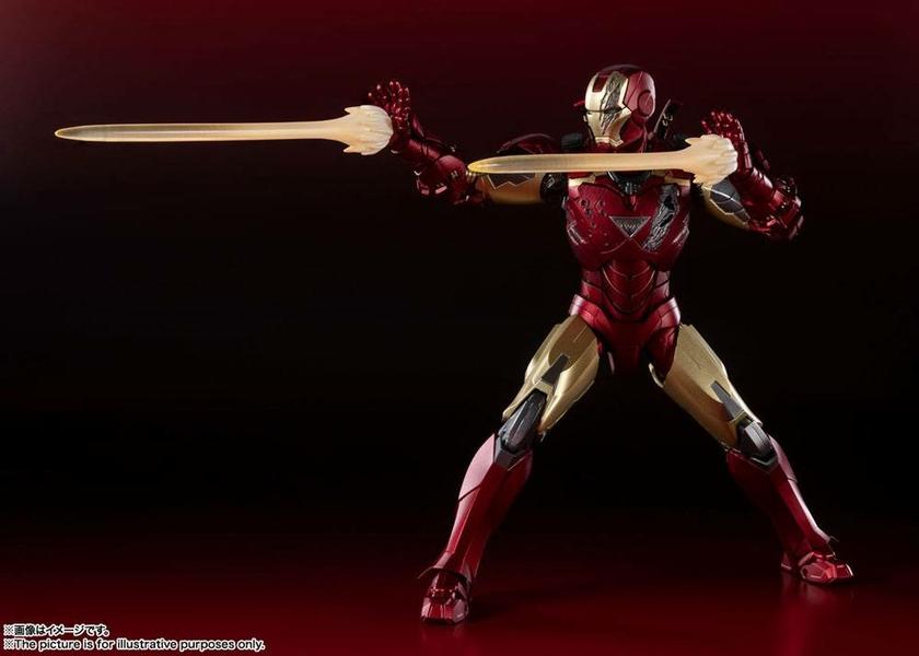 Figurine Avengers S.H. Figuarts Iron Man Mark 6 Battle of New York Edition 15cm 1001 Figurines (4)
