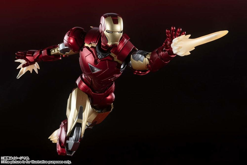 Figurine Avengers S.H. Figuarts Iron Man Mark 6 Battle of New York Edition 15cm 1001 Figurines (5)