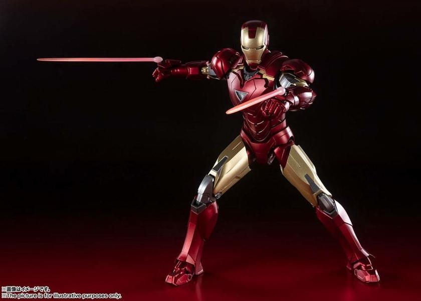 Figurine Avengers S.H. Figuarts Iron Man Mark 6 Battle of New York Edition 15cm 1001 Figurines (6)