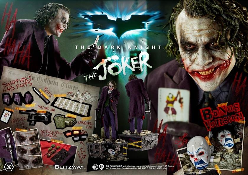 Statue The Dark Knight The Joker Bonus Version 72cm 1001 Figurines (26)
