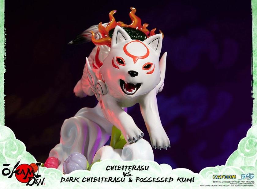 Diorama Okamiden Chibiterasu vs. Dark Chibiterasu & Possessed Kuni 33cm 1001 Figurines (4)