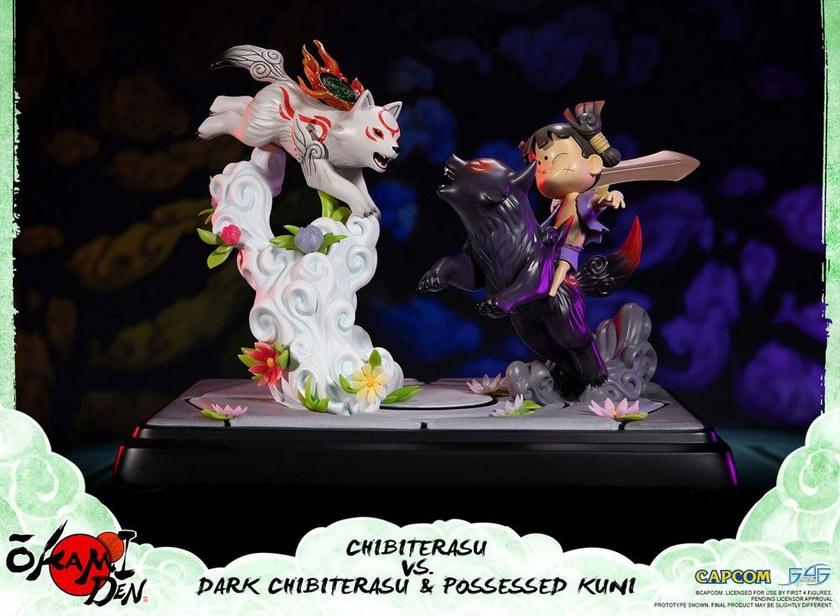 Diorama Okamiden Chibiterasu vs. Dark Chibiterasu & Possessed Kuni 33cm 1001 Figurines (9)
