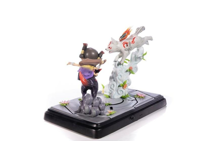 Diorama Okamiden Chibiterasu vs. Dark Chibiterasu & Possessed Kuni 33cm 1001 Figurines (18)