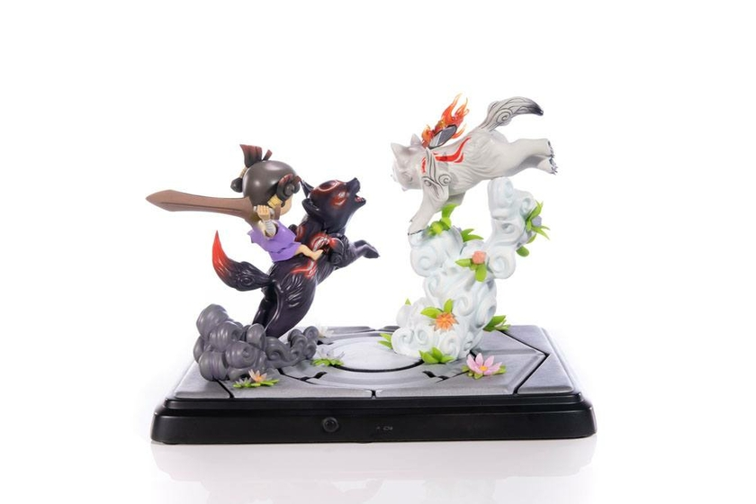 Diorama Okamiden Chibiterasu vs. Dark Chibiterasu & Possessed Kuni 33cm 1001 Figurines (19)