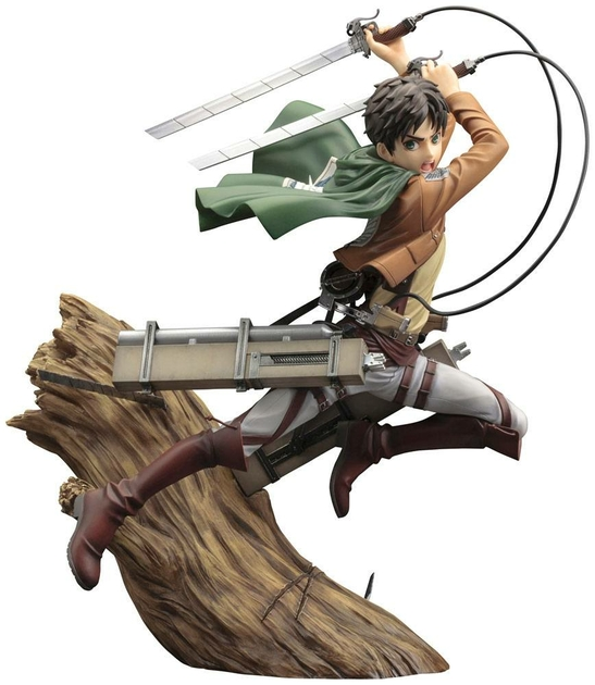 Statuette Attack on Titan ARTFX J Eren Yeager Renewal Package Ver. 26cm 1001 Figurines (1)