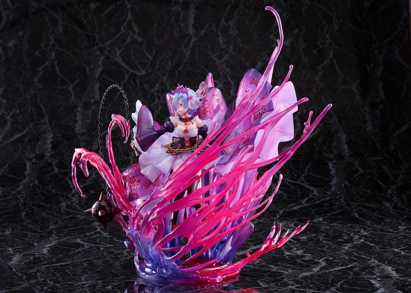 Statuette Re Zero Starting Life in Another World Oni Rem Crystal Dress Ver. 30cm 1001 Figurines (6)