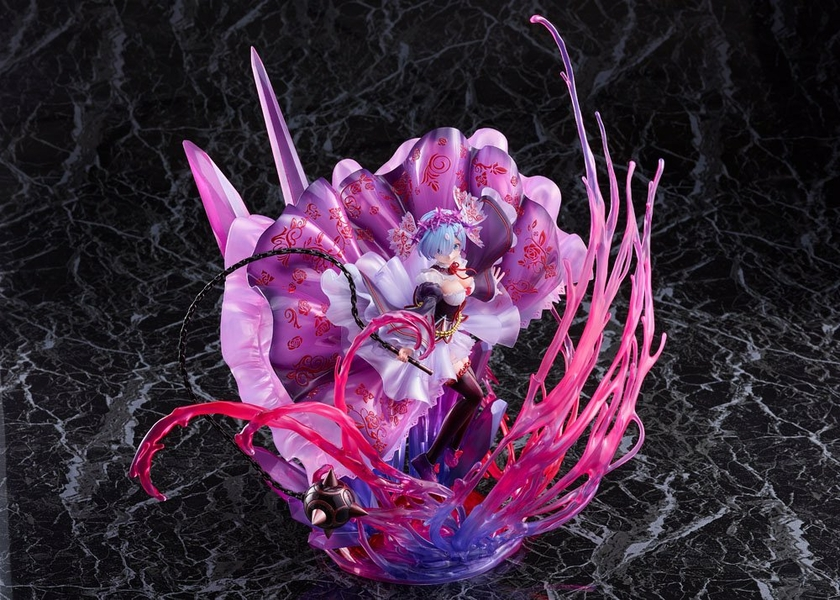 Statuette Re Zero Starting Life in Another World Oni Rem Crystal Dress Ver. 30cm 1001 Figurines (5)