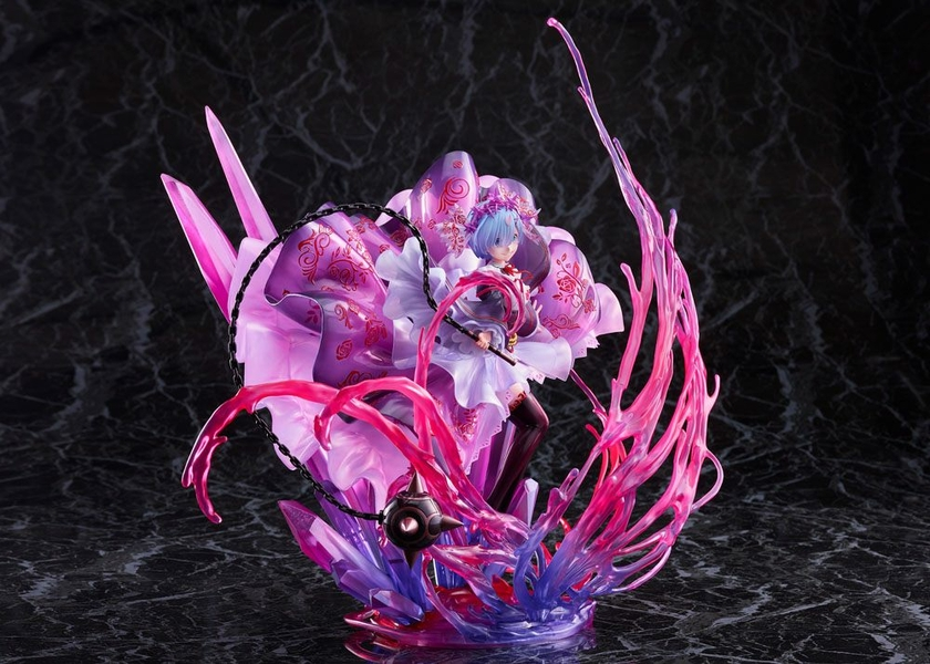 Statuette Re Zero Starting Life in Another World Oni Rem Crystal Dress Ver. 30cm 1001 Figurines (8)