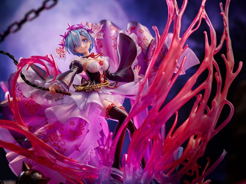 Statuette Re Zero Starting Life in Another World Oni Rem Crystal Dress Ver. 30cm 1001 Figurines (14)