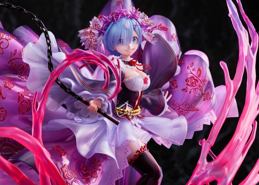 Statuette Re Zero Starting Life in Another World Oni Rem Crystal Dress Ver. 30cm 1001 Figurines (16)