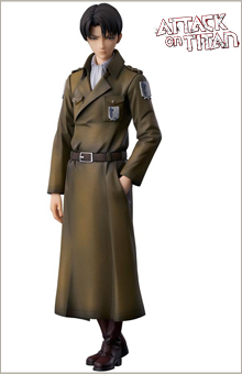 Statuette Attack on Titan Levi Coat Style 22cm