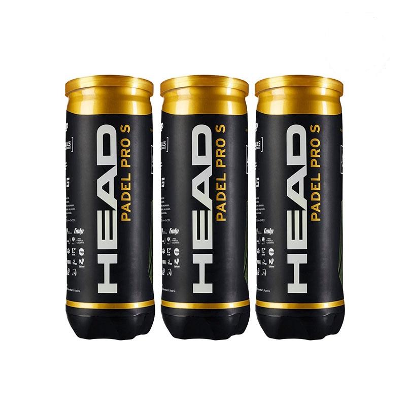 Balles de padel HEAD PADEL PRO S - pack de 3 boîtes de balles