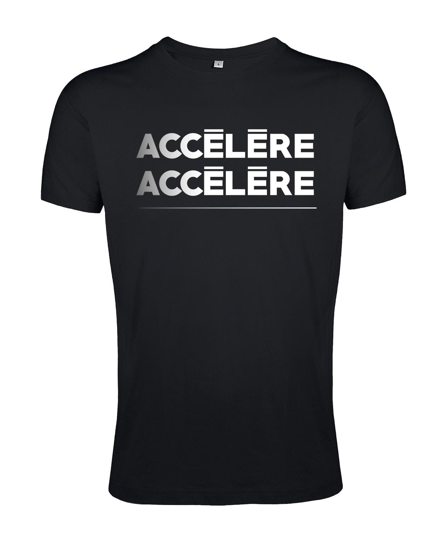 tshirt unisexe noir accelere